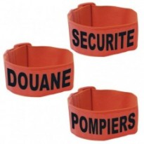 BRASSARD FLUO ORANGE : POMPIERS