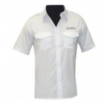 CHEMISE PILOTE BLANCHE MANCHES COURTES BRODEE SECURITE : S