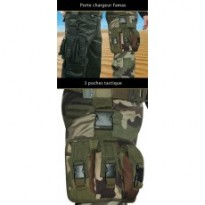 PORTE CHARGEUR FAMAS 3 POCHES 900D PU : Camouflage