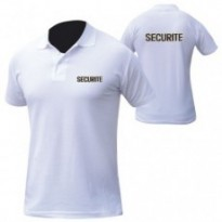 POLO BLANC MC BRODE SECURITE
