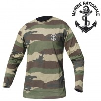 TSHIRT CAM MANCHES LONGUES SERIGRAPHIE MARINE NATIONALE