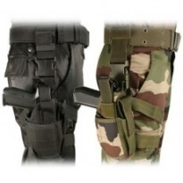 HOLSTER TACTICAL DE CUISSE : Droitier Camouflage