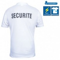 POLO COOLDRY BLANC IMPRIME SECURITE