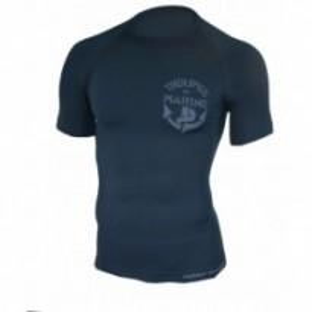 SU8725NB - T-Shirt Troupes de Marine Bleu Marine