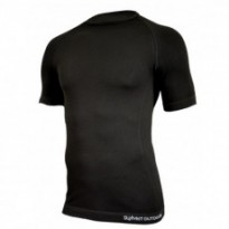 SU8330BK - Tee-shirt 1ère peau micro aéré. Noir
