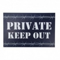 Plaques de rue PRIVATE KEEP OUT