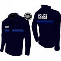 Polo manches longues police municipale Double Soft