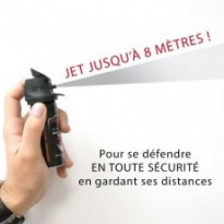 AEROSOL DE DEFENSE GEL POIVRE A JET : 100ML