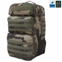 SAC A DOS MILITAIRE DOUBLE ACCES 65L : Camouflage