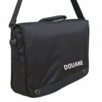 CARTABLE PORTE DOCUMENTS SERIGRAPHIE DOUANE : Noir