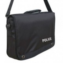 CARTABLE PORTE DOCUMENTS SERIGRAPHIE POLICE : Noir