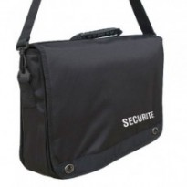 CARTABLE PORTE DOCUMENTS SERIGRAPHIE SECURITE : Noir
