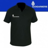 POLO NOIR MC IMPRIME GENDARMERIE GM MOBILE