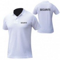POLO BLANC MC IMPRIME SECURITE