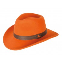 Chapeau woolchap orange